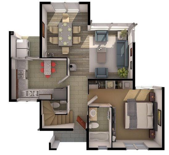 107 best planos images on pinterest cottage house - Planos de casas de dos pisos ...
