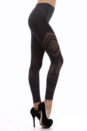 Here you have a wonderful Spring and Summer legging that we call the Jagged Mesh Seamless Leggings.  These seamless leggings have a very sexy design that is characterized by the angular mesh pattern in the fabric.  The fits is ultra comfortable in these gorgeous leggings and can easily be worn year round as a basic legging to spice up any outfit.  Our Jagged Mesh Seamless Leggings are an easy way to add a sassy feel to your wardrobe.  They are a one size seamless legging that easily fit ...