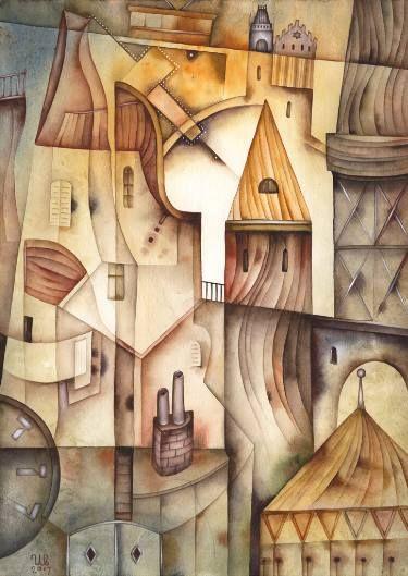 In the city by Eugene Ivanov, watercolor on paper, 29 X 41 cm, $465. #eugeneivanov #@eugene_1_ivanov #modern #original #oil #watercolor #painting #sale #art_for_sale #original_art_for_sale #modern_art_for_sale #canvas_art_for_sale #art_for_sale_artworks #art_for_sale_water_colors #art_for_sale_artist #art_for_sale_eugene_ivanov #jew #jewish #judaic