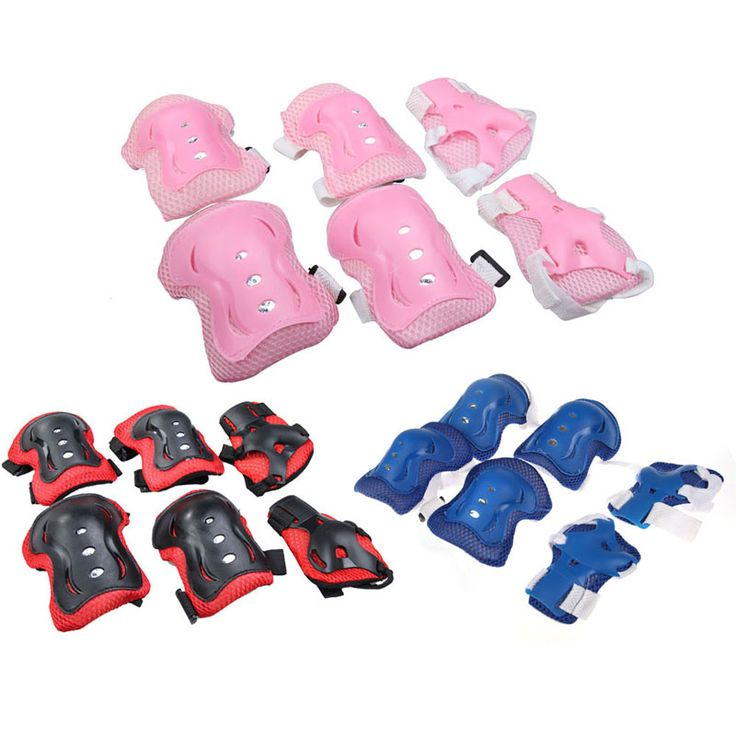 Comfortable Kid Roller Skating Skateboard Elbow Knee Pads Wrist Protective Guard Gear Pad Gear Nylon Children Cycling Sports