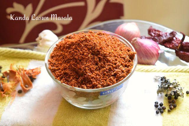 Poorni's Easy Cookbook: Kanda Lasun masala/Kaandha Lasun masala/Lal tikhat...