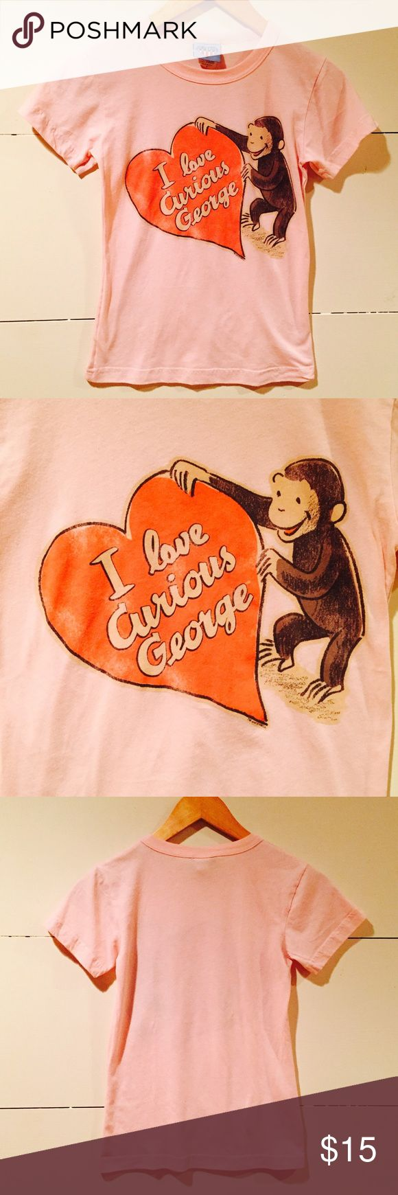 Curious George Junk Food Tee Shirt In good condition. Junk Food's I love Curious George tee shirt. Soft and stretchy material 50% cotton 50% polyester. Size small Junk Food Clothing Tops Tees - Short Sleeve