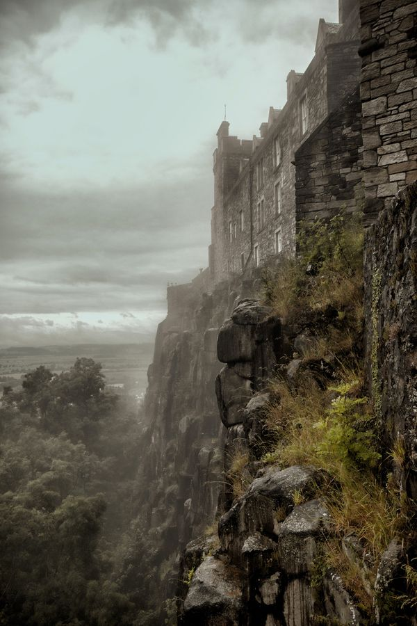 A haunting view of Stirling Castle, Scotland