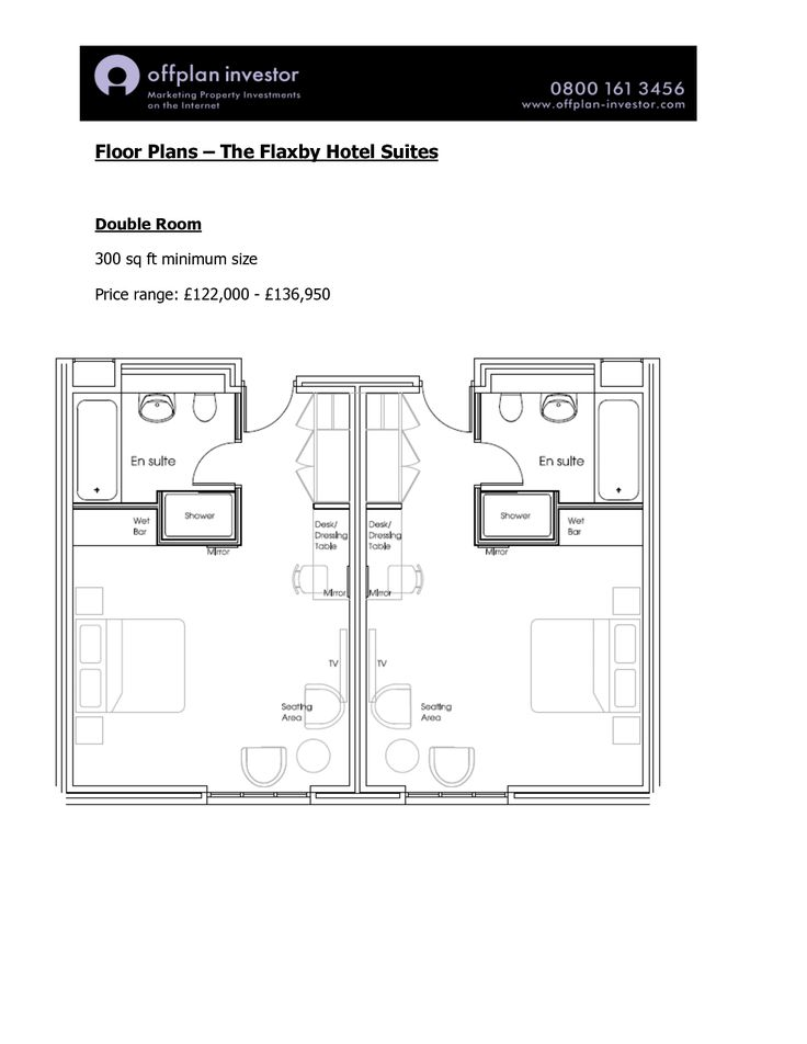 Hotel Room Floor Plans | Floor Plans The Flaxby Hotel Suites Double Room sq ft