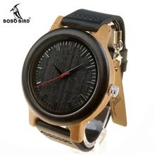 BOBO BIRD M13 Newest Brand Design Wenge Wooden Watch Soft Leather Band Cool Bamboo Quartz Watches Carton Box Accept Customize(China (Mainland))