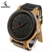 BOBO BIRD M13 Newest Brand Design Wenge Wooden Watch Soft Leather Band Cool Bamboo Quartz Watches Carton Box Accept Customize(China (Mainland))