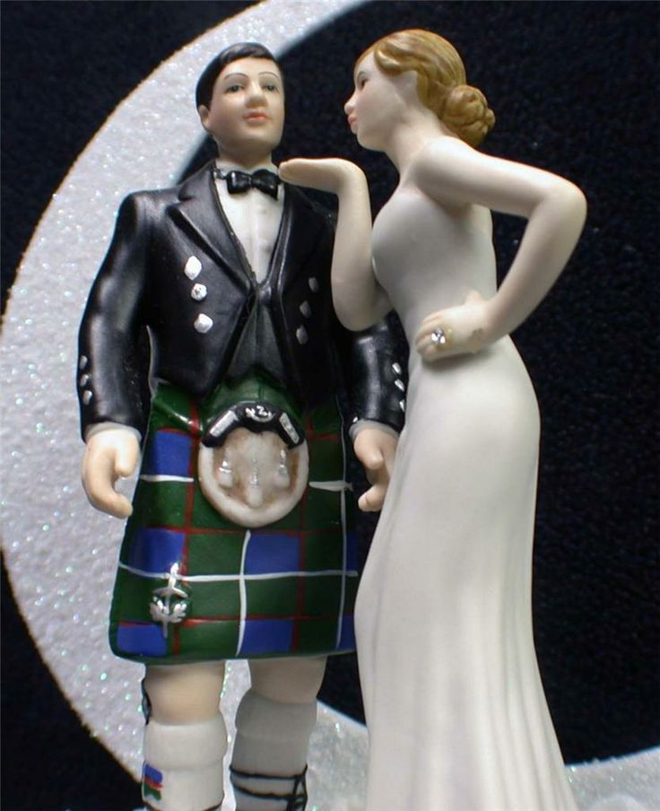 wedding cake toppers funny kilt scottish groom kilt sporran pretty wedding cake 26474