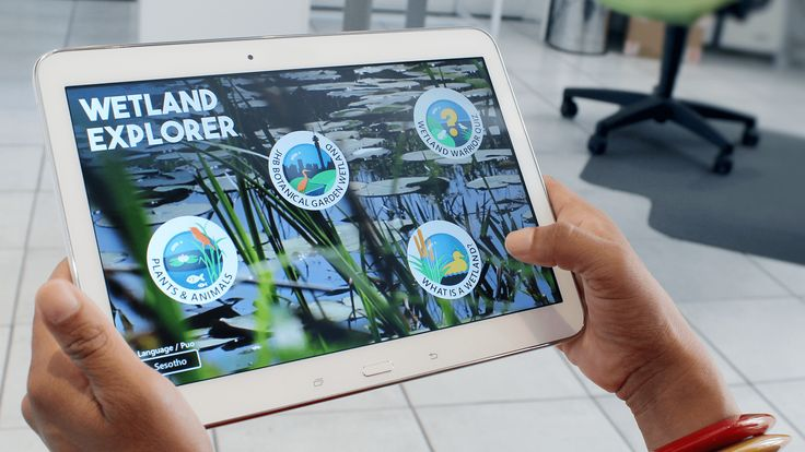 We designed the Joburg Zoo Wetlands App to teach users, in both English and Sesotho, about the flora and fauna of the wetlands regions.