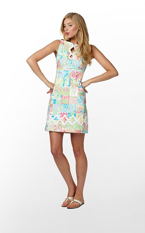 Adelson Shift in Lilly State of Mind Patch (w/o 1/29/12): Fashion, Lilly Pulitzer, Style, Pattern, Adelson Shift, Clothes, Dresses, Lillypulitzer, Pulitzer Shift