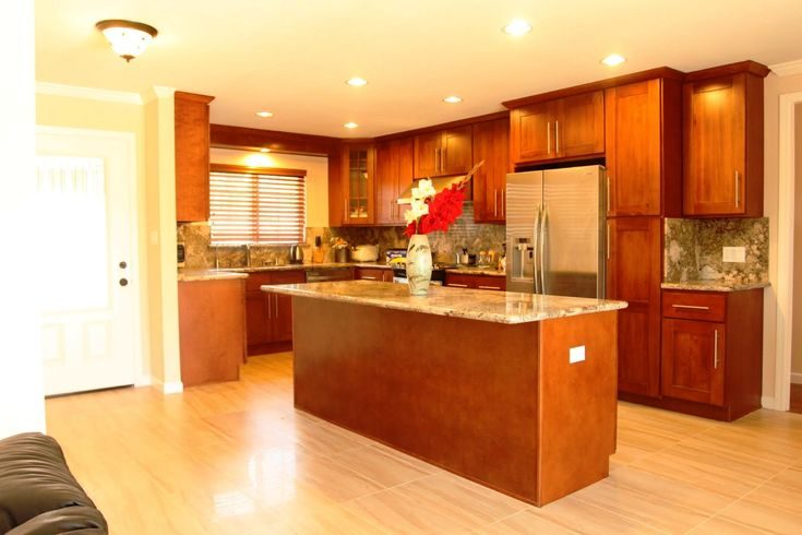 Image result for cherry wood kitchen cabinets