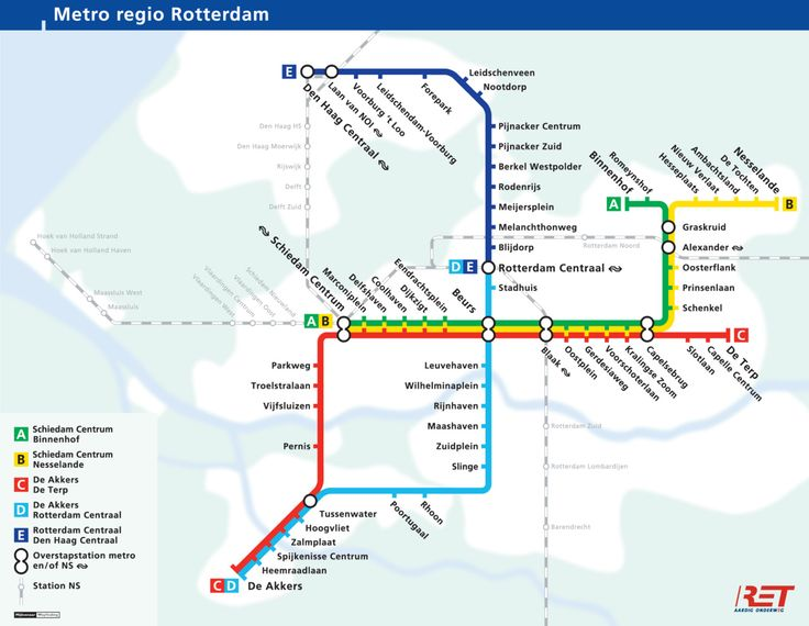 Official Map Rotterdam Metro The Netherlands Transit Maps