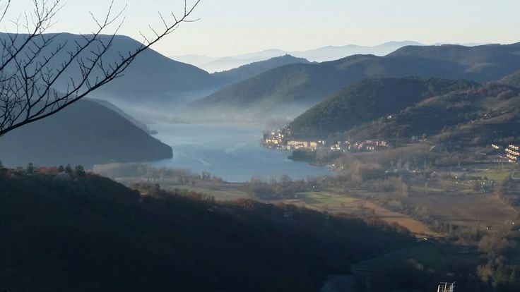 Dear Reader, This is the valley of Labro, medieval town on the border between Umbria and Lazio.