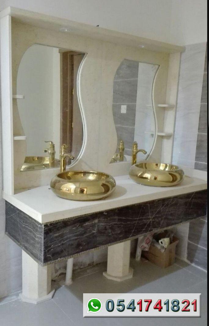 مصنع ايديال استون مغاسل رخام طبيعي وصناعي تفصيل حسب الطلب مغاسل رخام حديثة مغاسل رخام جدة خبرة اكثر من 22 عاما Home Decor Lighted Bathroom Mirror Furniture