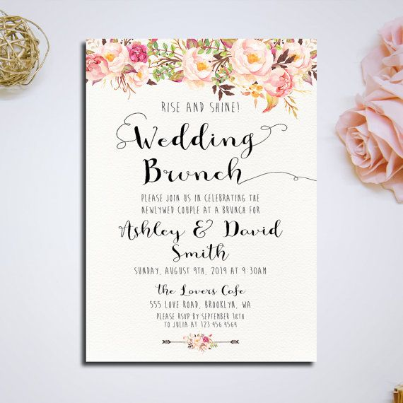 Post Wedding Brunch Invitation Rise and by HappyLifePrintables
