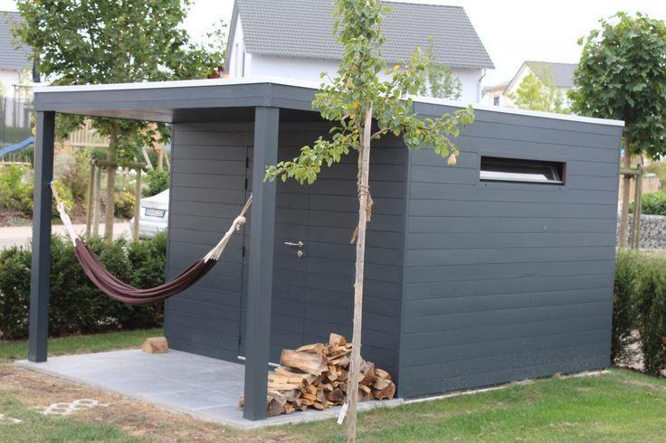 Moderne Gartenhauser Gelungene Architektur Auf Kleinem Raum Ob Schragdach Oder Carport Schuppen Archit In 2020 Modern Garden Backyard Sheds Luxury Garden