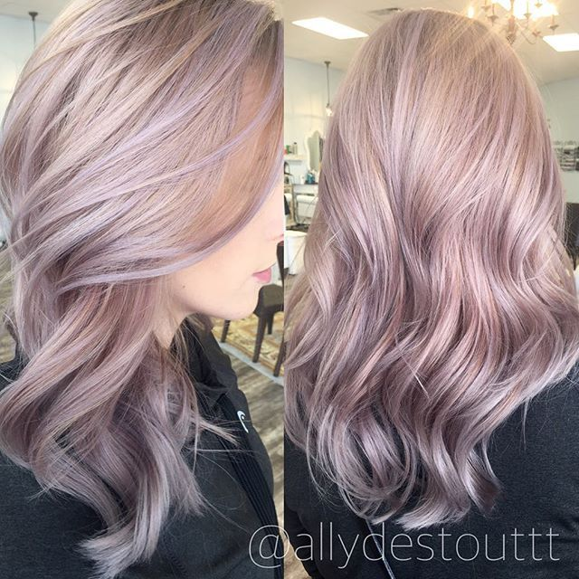 i like the lavender thrown into the rose gold lilac hair