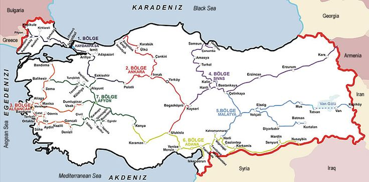 TCDD (Turkish Railways) Map
