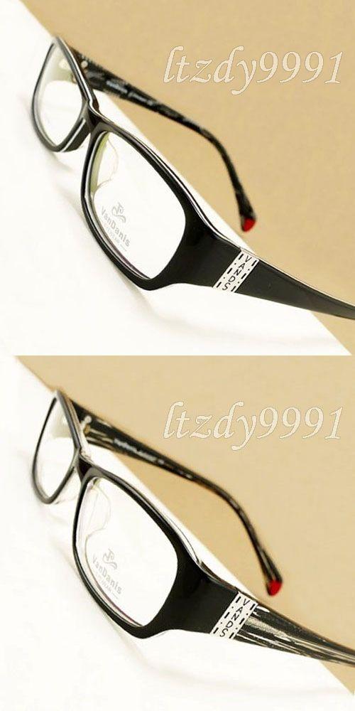 f2639fef11 Black Acetate Full rim Optical Prescription Rectangular Nerdy EYEGLASSES  FRAMES Men Women Glasses RX Spectacle DX10046