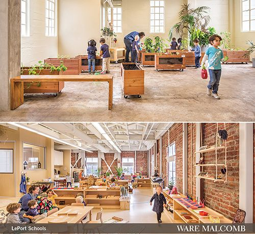 LePort Schools is a IIDA NC Honor Award Winner! Ware Malcomb provided architecture, interior design, and civil engineering services for the 22,260 square foot private school located in a historic building. Read more about our award winning design here.