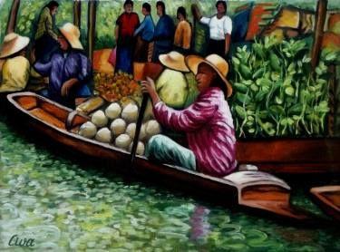 Floating Market, Bangkok, Thailand - No.B.