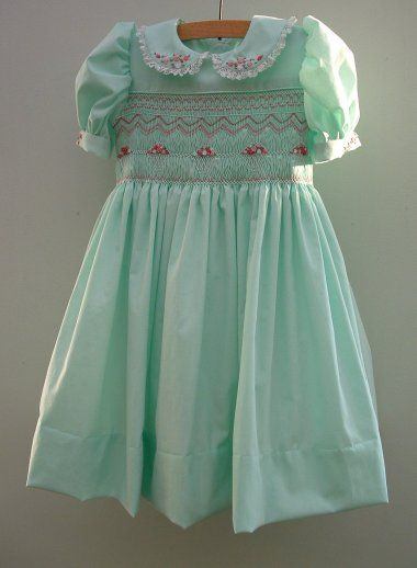 Smocked Dress My Mom used to hand make these for me...wish I still had one. ton of handywork