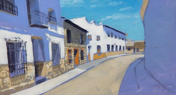 John Cox shows us how to paint this simple townscape in #acrylics now available on ArtTutor.