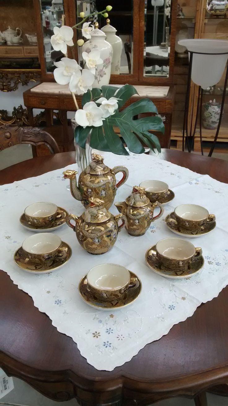 Servizio da the ceramica giapponese Satsuma #stylish #japanstyle