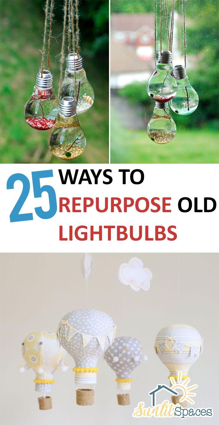 1000 images about lightbulb things on pinterest lightbulbs bulbs - 25 Ways To Repurpose Old Lightbulbs