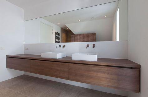 25 beste idee n over beton badkamer op pinterest betonnen douche en douche ruimtes - Houten meubels voor badkamers ...
