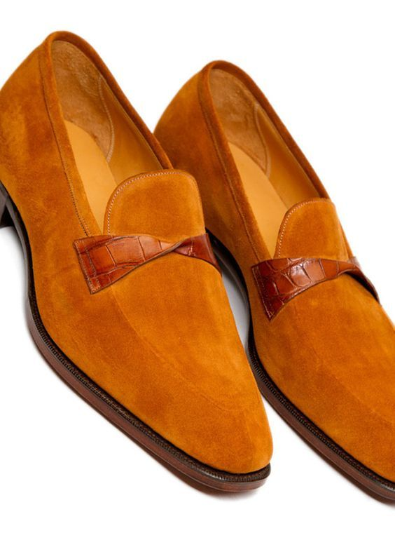 He is wonderful peace and he is wearing his favorite best quality Suede Loafers