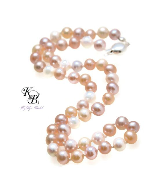 Freshwater Pearl Necklace Real Pearl by KyKysBridalBoutique