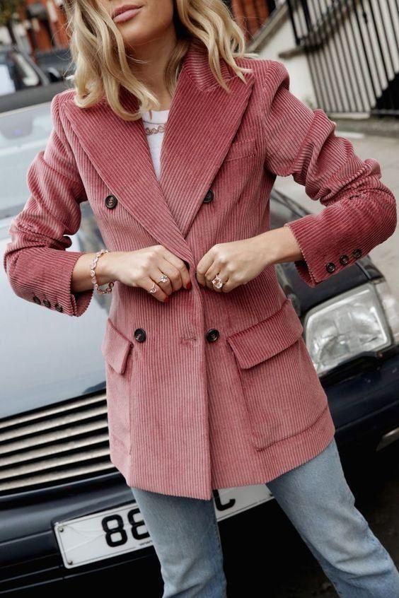 Blazer | Cord | Jeans | Straßenstil | Winter | Inspiration | Mehr zu Fashionchick