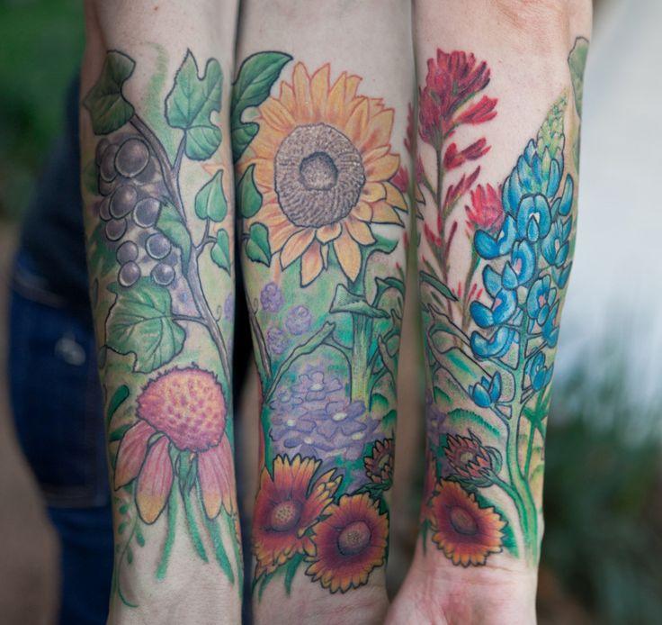 Clairegarden ~ Darryl Hanna with Golden Age Tattoo in Austin, TX