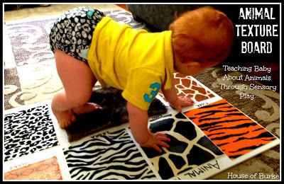 Animal Texture Board: Teaching Baby About Animals Through Sensory Play - House of Burke