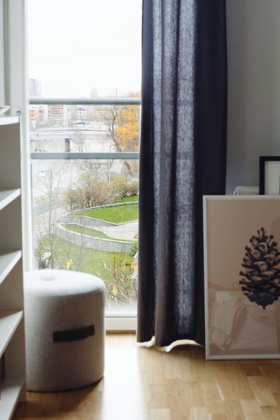 Sovrum franks balkong gardin konst