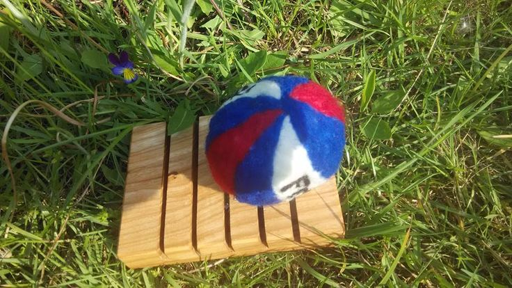 felted ball soap