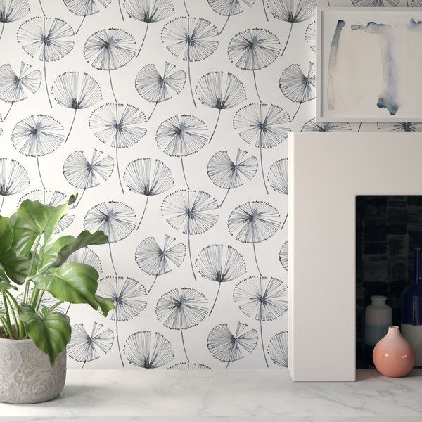 They Say Wallpaper Is Having A Moment And With Designs Like These It S No Wonder Why Made From In In 2020 Wallpaper Roll Peel And Stick Wallpaper Dandelion Wallpaper