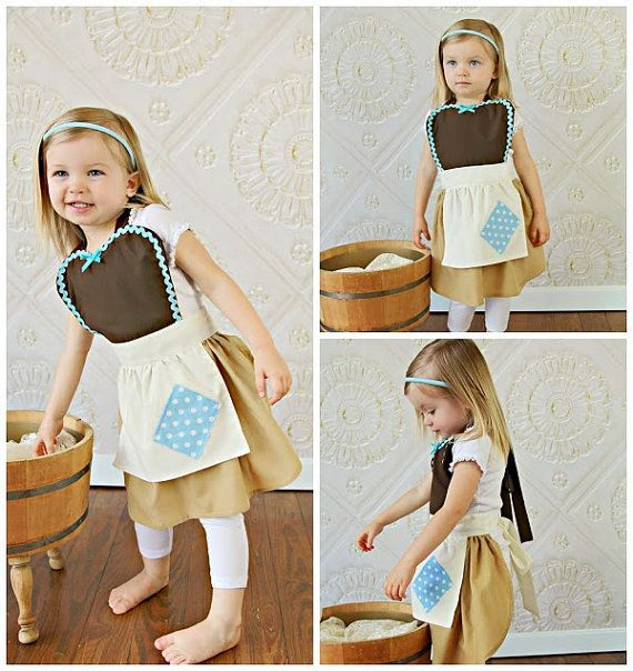 CINDERELLA Work Apron for kids cute girls by loverdoversclothing - Going to get this for my daughter so we can pretend to play cinderella while we clean