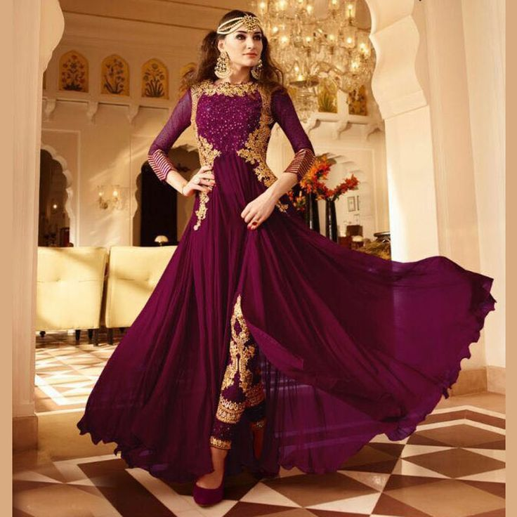 Bollywood Designer Pakistani Indian Salwar Kameez Anarkali Gown Party Wear Dress #Handmade #SalwarKameez