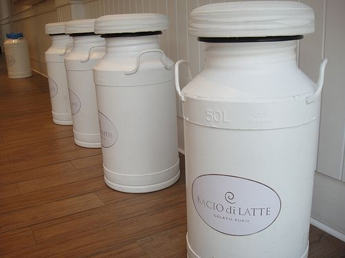 Milk Canisters converted to stools