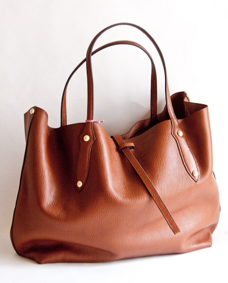 Leather Tote in Chestnut from AndGeorge