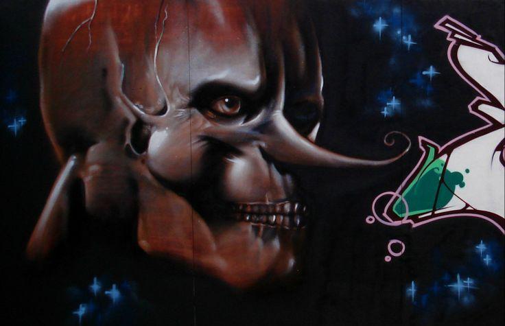 #skull #graffiti #sinke #sinketattoo #streetart