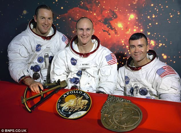 The original crew of Apollo 13 were Jim Lovell, Ken Mattingly and Fred Haise (pictured left to right).  Mattingly was replaced by Jack Swigart