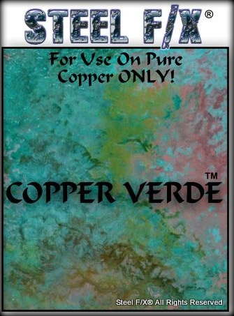 Product Love - Copper Verde by Steel F/X = solution for creating a verde patina finish on copper.