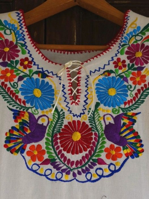 "EMBROIDERED MEXICAN ""LA REINA"" BOHO DRESS ~ PALOMA"