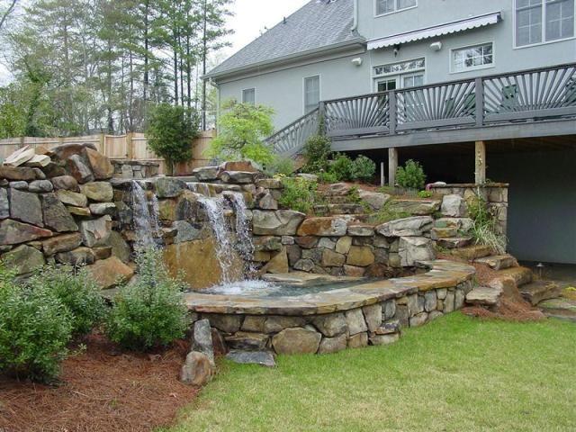 Backyard Waterfall in Alexandria, VA: Gardens Ideas, Outdoor Ideas, Backyard Ideas, Backyard Landscape, Alexandria Va, Backyard Ponds, Backyard Waterfalls, Backyard Gardens, Gardens Design