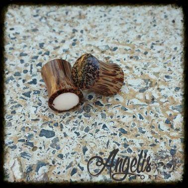Coconut Tiki Wood Plugs