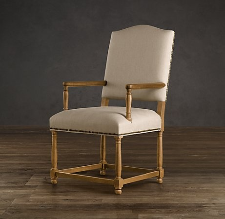 Empire Camelback Upholstered Armchair  Upholstered Chairs ...