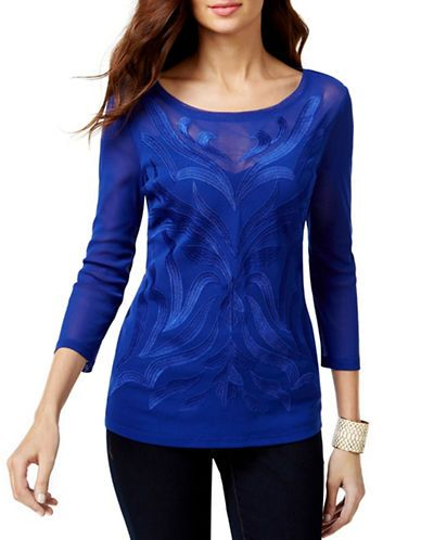 Women's | 25% off New Arrivals | Illusion Embroidered Top | Hudson's Bay