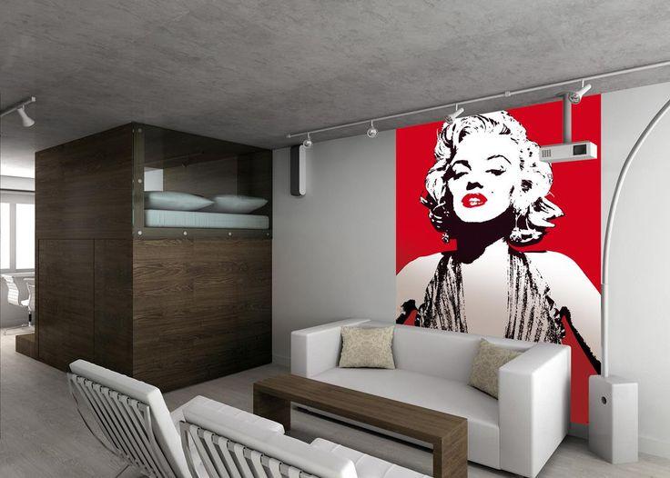 Marilyn Deco Wall Mural #1wall #marilyn #monroe #wallpaper #wallmural #home